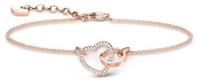 Thomas Sabo Rose Gold Plated Together Bracelet A1730-416-14-L19V