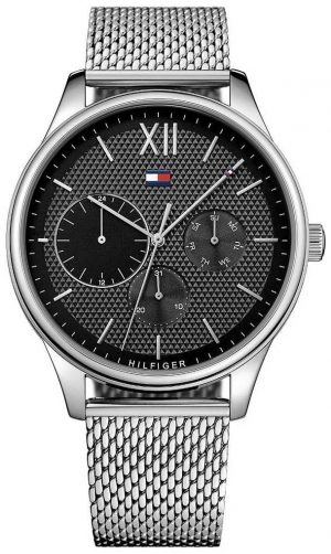 Tommy Hilfiger Damon | Stainless Steel Mesh | Black Dial 1791415