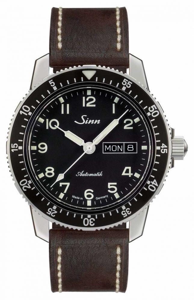 Sinn 104 St Sa A Classic Pilot Watch Dark Brown Vintage Leather 104.011-BL50202002007125401A