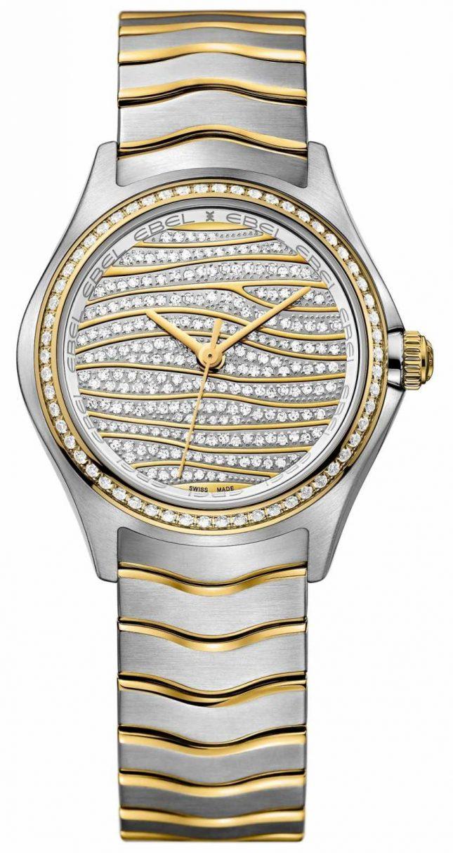 EBEL Womens Wave 58-diamond 18k Gold Watch 1216285