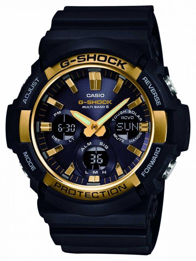 Casio Mens G-Shock Waveceptor Alarm Chrono GAW-100G-1AER
