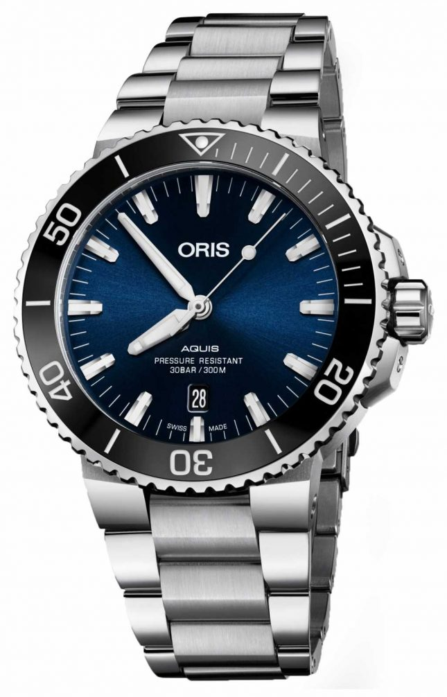 ORIS Aquis Date Automatic Stainless Steel Blue Dial 01 733 7730 4135-07 8 24 05PEB