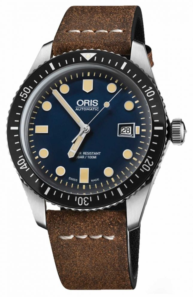 ORIS Divers Sixty-five Automatic Brown Leather Strap Blue Dial 01 733 7720 4055-07 5 21 45