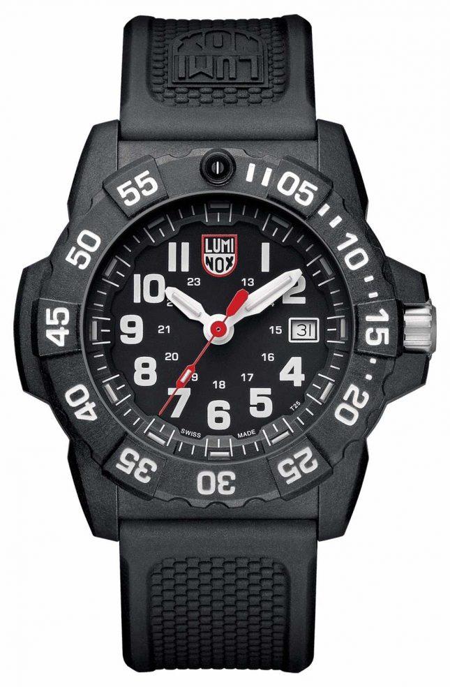Luminox Mens Navy Seal 3500 Series Black White XS.3501