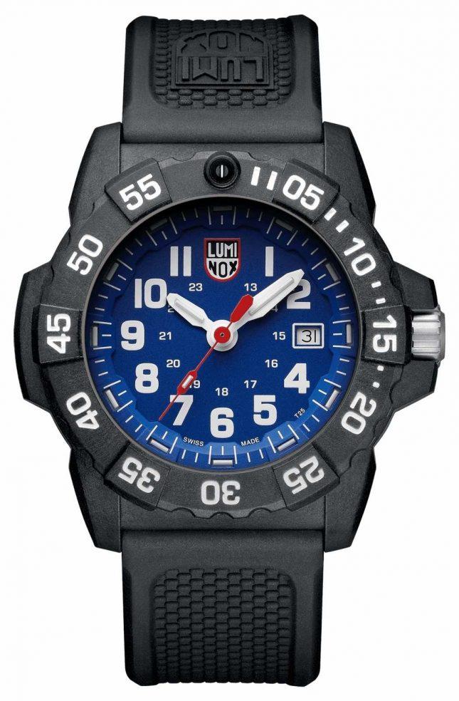 Luminox Mens Navy Seal 3500 Blue Dial PU Black Strap XS.3503