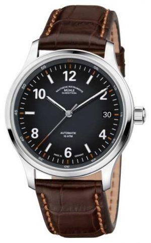 Muhle Glashutte Mens Lunova Datum Automatic Brown Leather M1-43-16-LB