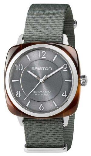Briston Unisex Clubmaster Diver Tortoise Shell Acetate Auto Grey 17642.SA.TD.17.NG