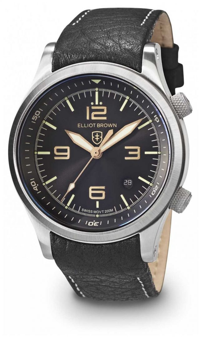 Elliot Brown Men's Canford Black And Gold Stainless Steel 202-021-L17