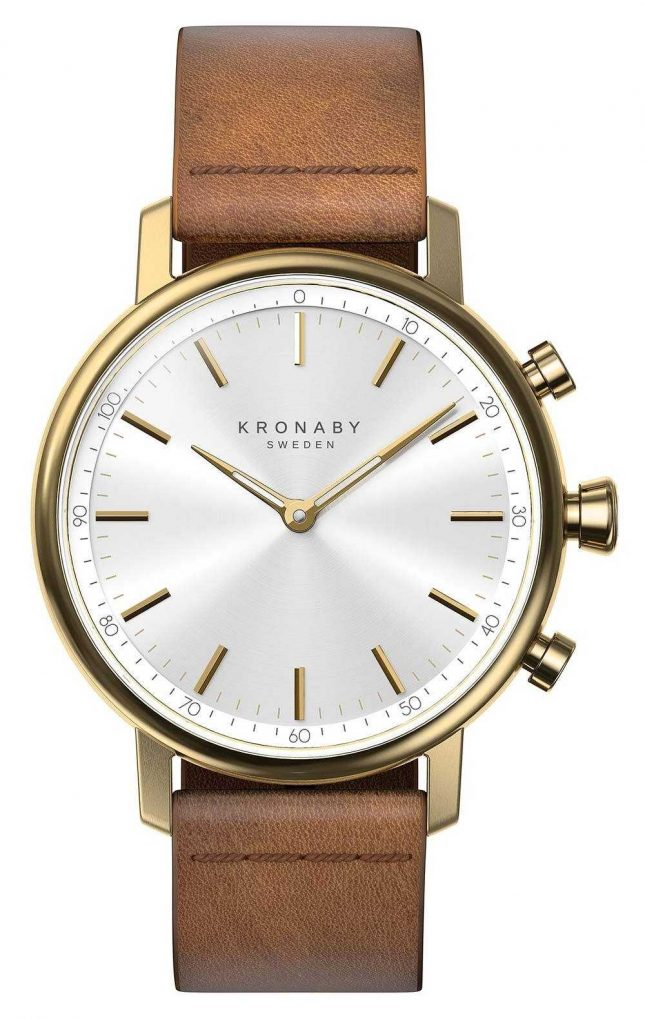 Kronaby 38mm CARAT Bluetooth Brown Leather Strap A1000-0717 S0717/1