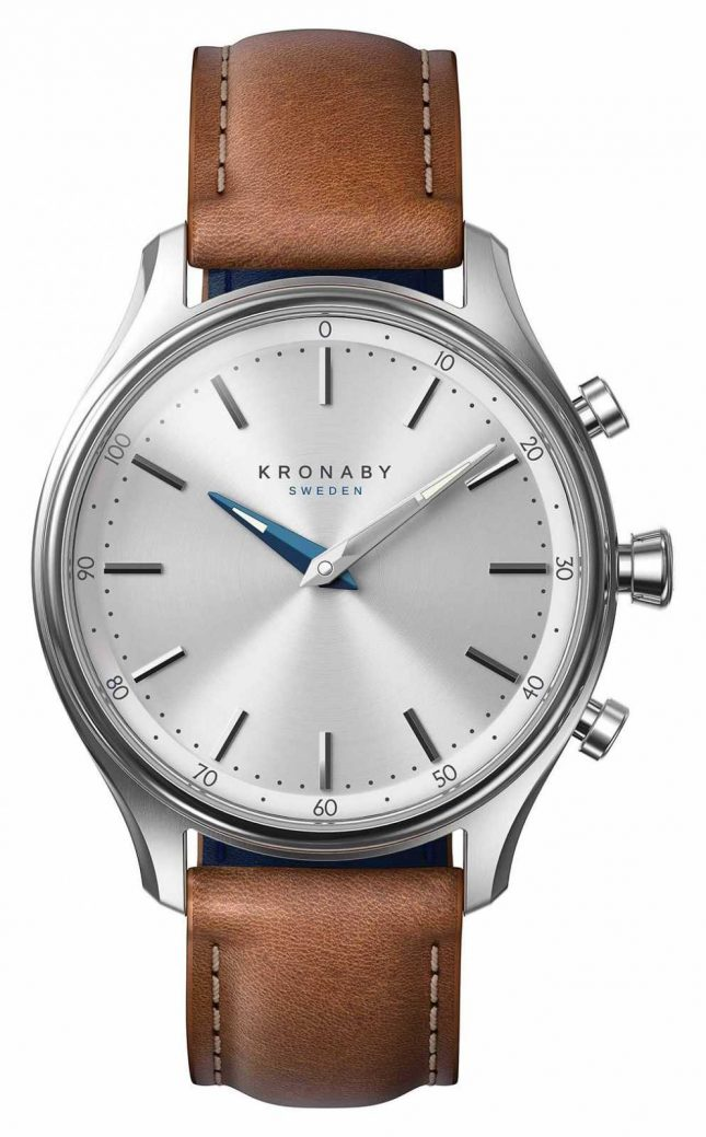 Kronaby 38mm SEKEL Stainless Brown Leather Strap A1000-0658 S0658/1