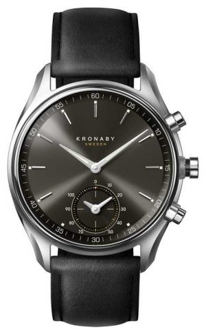 Kronaby 43mm SEKEL Bluetooth Black Dial/Leather Strap A1000-0718 S0718/1