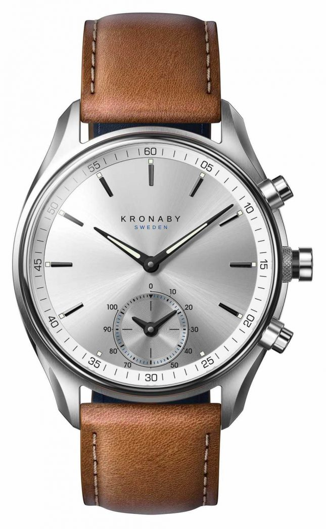 Kronaby 43mm SEKEL Bluetooth Tanned Brown Leather A1000-0713 S0713/1