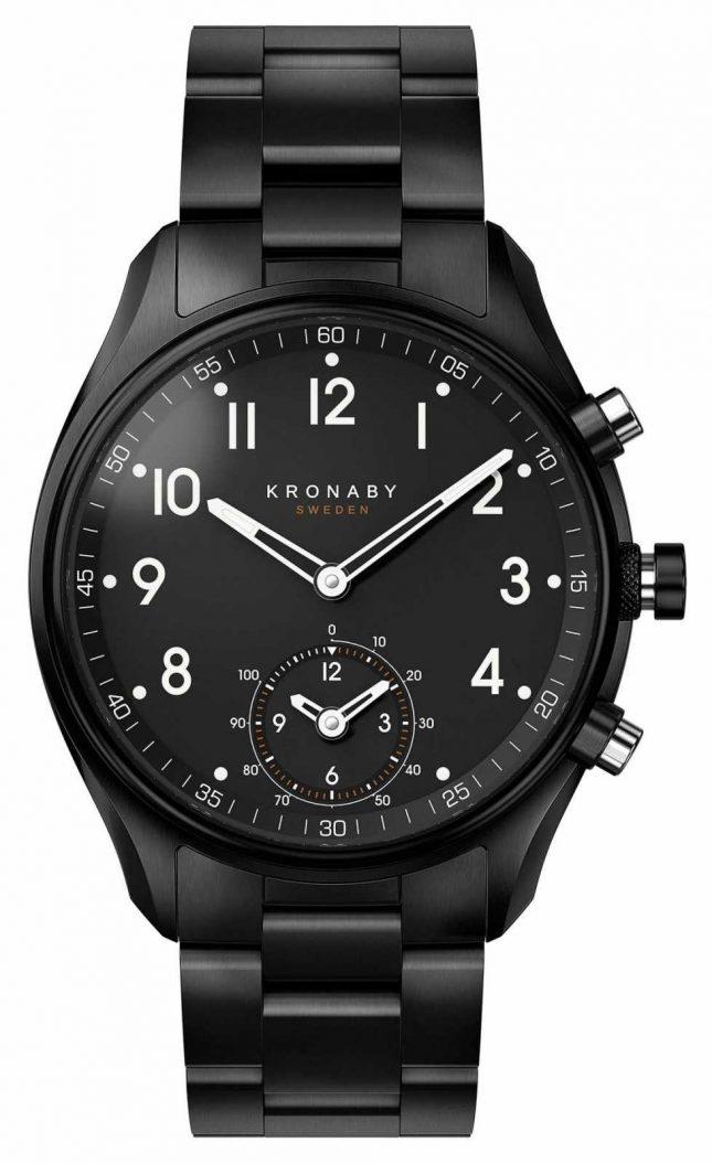 Kronaby 43mm APEX Bluetooth Black PVD Metal Strap A1000-0731 S0731/1