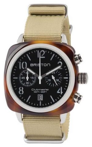 Briston Clubmaster Classic Acetate – Chronograph Tortoise Shell Blac 13140.SA.T.1.NK