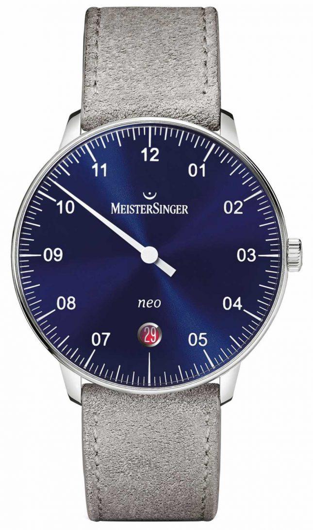 MeisterSinger Men's Form And Style Neo Automatic Sunburst Blue NE908N