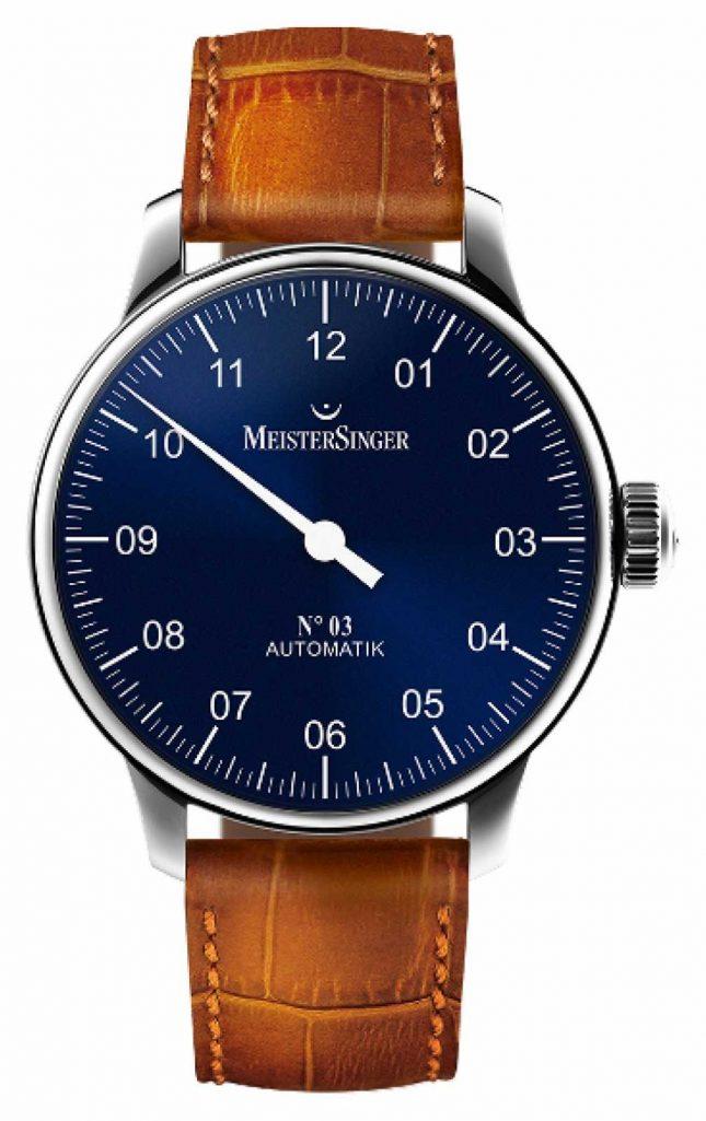 MeisterSinger Men's Classic No. 3 Automatic Sunburst Blue AM908