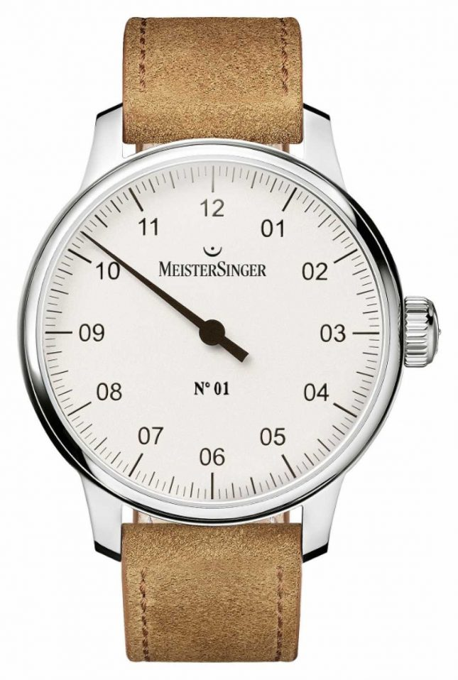 MeisterSinger Men's no. 1 Classic Hand Wound Sellita White AM3301