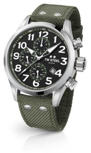 TW Steel The Mens Canteen Black Dial Stainless Steel Strap VS24