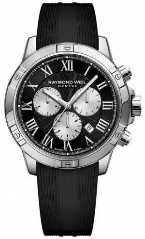 Raymond Weil Mens Tango Chronograph Black Swiss 8560-SR-00206