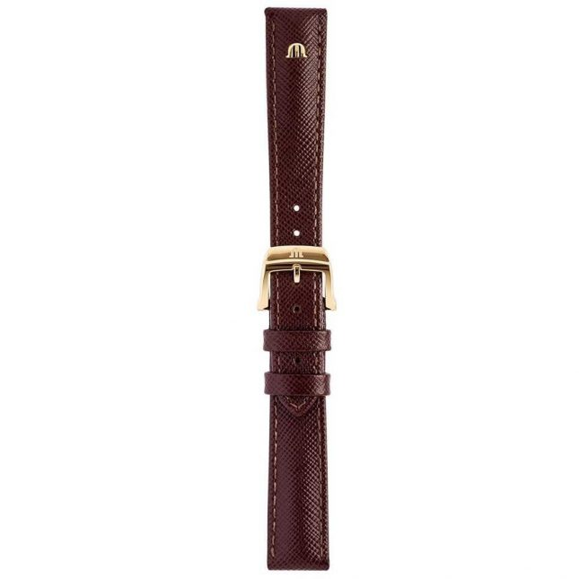 Maurice Lacroix | 16mm Textured Brown Leather Strap Rose Gold Tone | With Buckle ML740-005004
