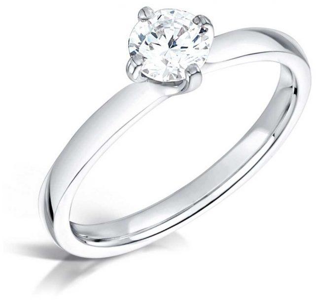 Certified Diamond 0.40ct H SI1 IGI Diamond Engagement Ring FCD28381