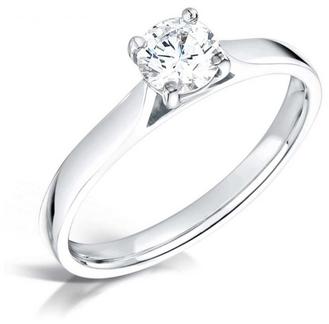 Certified Diamond 0.41ct H SI1 GIA Diamond Engagement Ring FCD28378