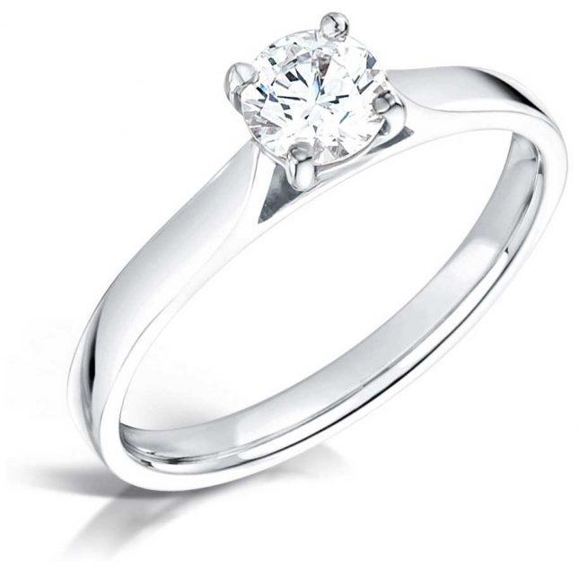 Certified Diamond 0.30ct D SI1 GIA Diamond Engagement Ring FCD28343