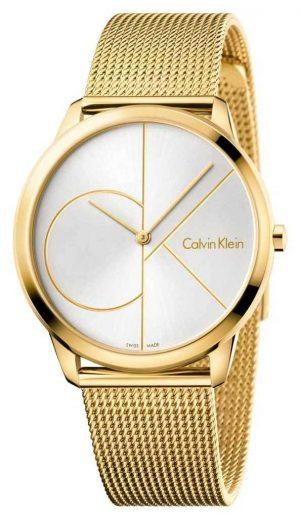 Calvin Klein Men's Minimal Watch | Gold Mesh Stainless Steel Strap | K3M21526