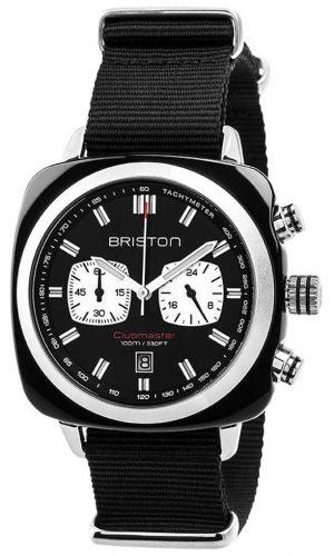 Briston Mens Clubmaster Sport Acetate Chrono Black 17142.SA.BS.1.NB
