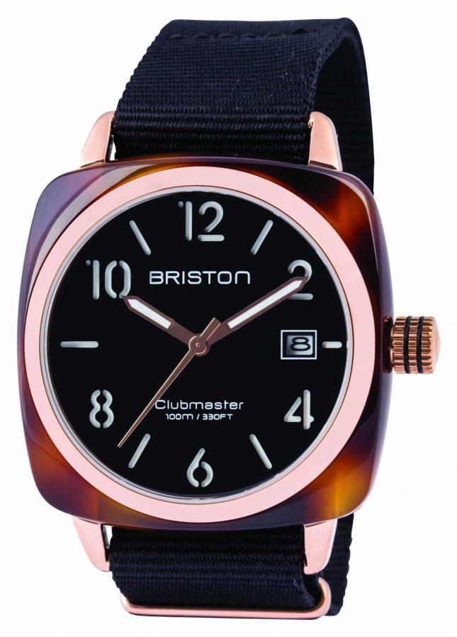 Briston Mens Clubmaster Classic Acetate Black 13240.PRA.T.1.NB