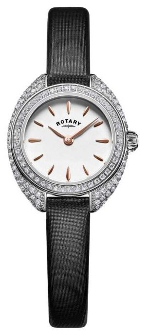 Rotary Womans Petite Stone Set Mesh Silver LS05087/02