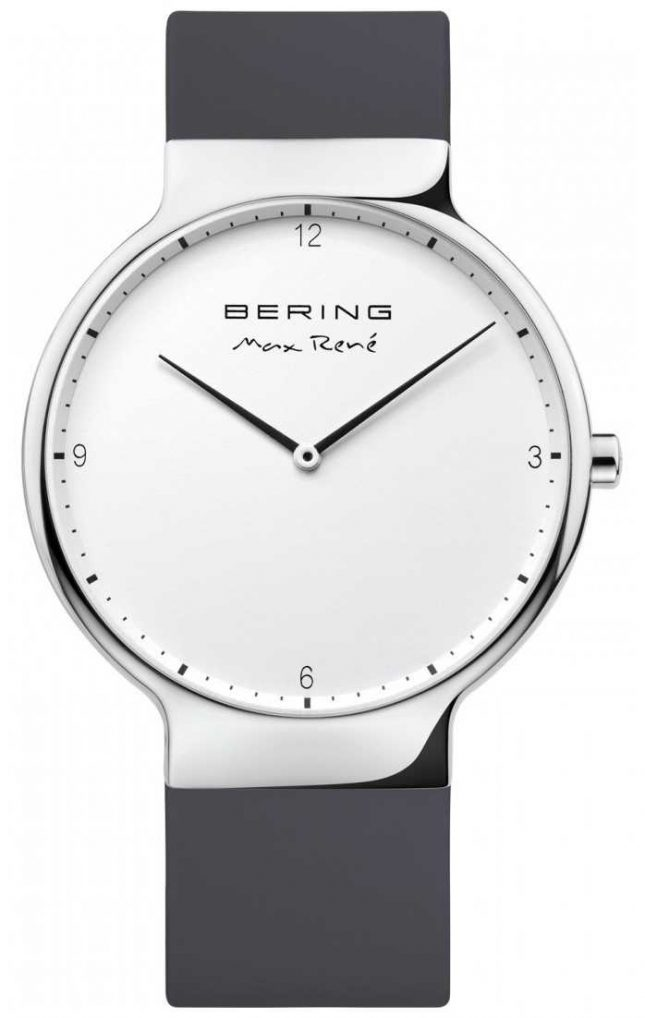 Bering Mens Max René Interchangeable Blue Rubber Strap 15540-400