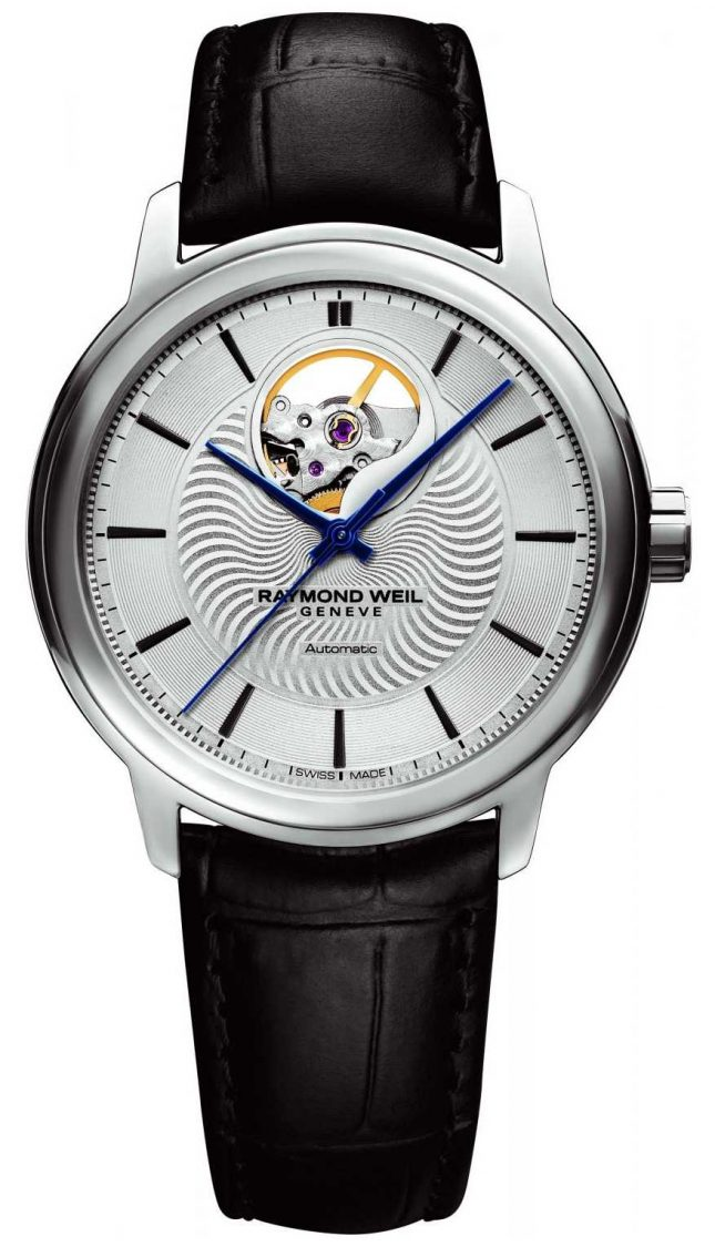 Raymond Weil Mens Maestro Automatic Black Leather Exhibition Case 2227-STC-65001