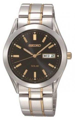 Seiko Men's Solar Stainless Steel Bracelet Watch SNE047P9