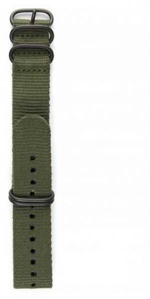 Elliot Brown Mens 22mm Olive Ballistic Nylon Gunmetal Hardware Strap Only STR-N01