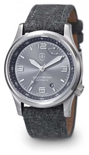 Elliot Brown Mens Tyneham Grey Stap Grey Dial 305-002-F01