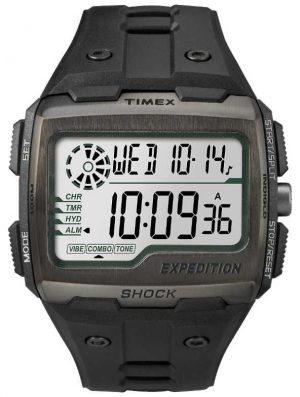 Timex Mens Grid Shock Alarm Chronograph All Black TW4B02500