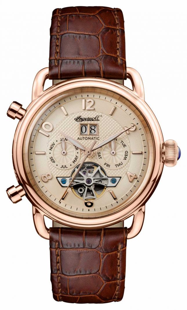 Ingersoll Mens 1892 The New England Brown Leather Strap I00901