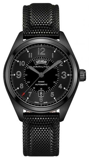 Hamilton Mens Khaki Field DayDate Automatic Black Material Black Dial H70695735