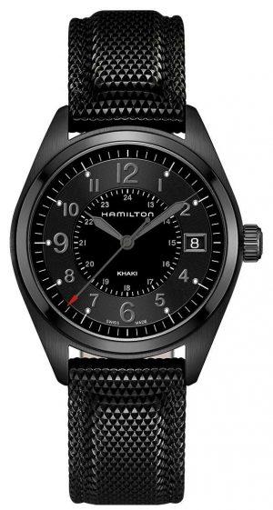 Hamilton Men's Khaki Field Black Material Black Dial H68401735