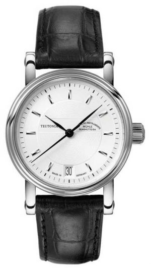 Muhle Glashutte Teutonia II Medium Leather Band Silver Dial M1-30-25-LB