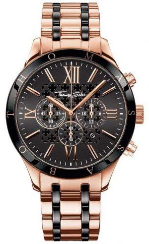 Thomas Sabo Mens Rebel Urban Rose Gold Tone Chronograph Watch WA0187-267-203-43