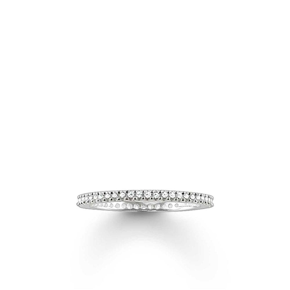 Thomas Sabo Ring White 925 Sterling Silver/ Zirconia TR1980-051-14-54