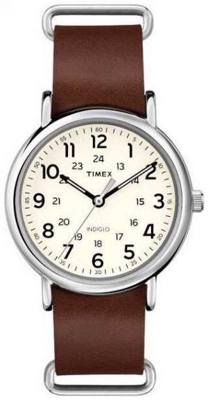 Timex Originals Weekender Brown Leather Strap T2P495