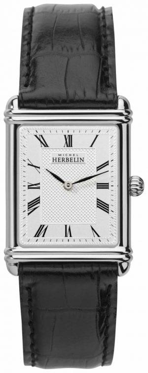Michel Herbelin Mens, Analogue Quartz, Leather Strap 17468/08