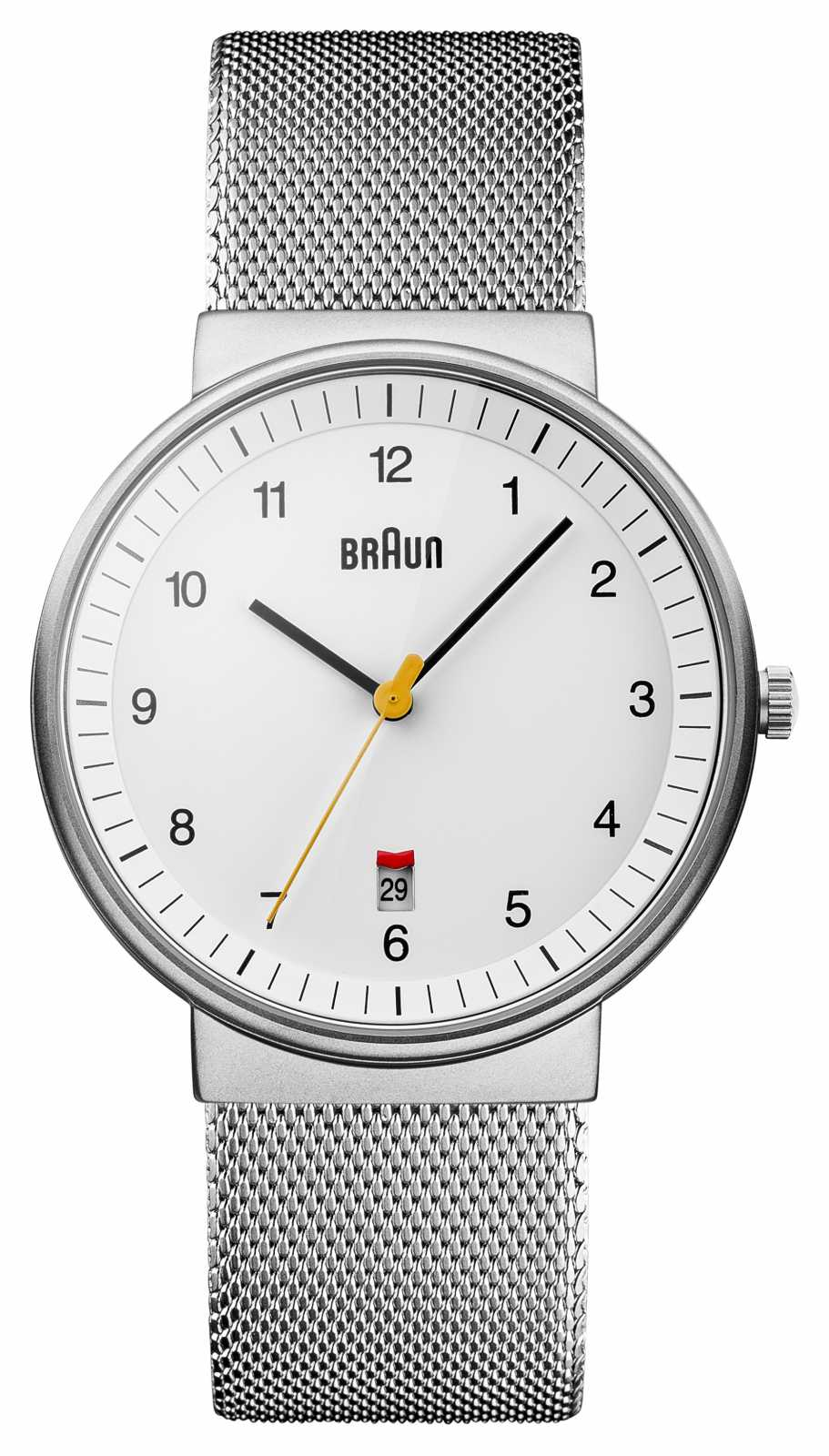 Braun Mens Silver White Watch BN0032WHSLMHG