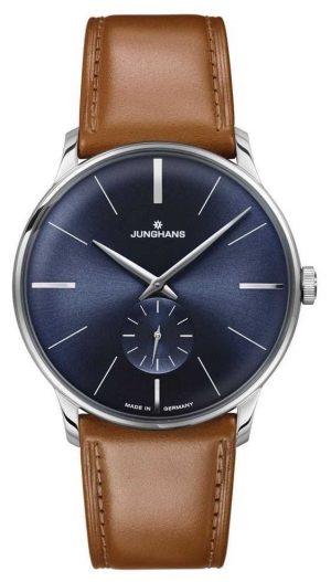 Junghans Mens Meister Hand-winding Brown Leather Strap 027/3504.00