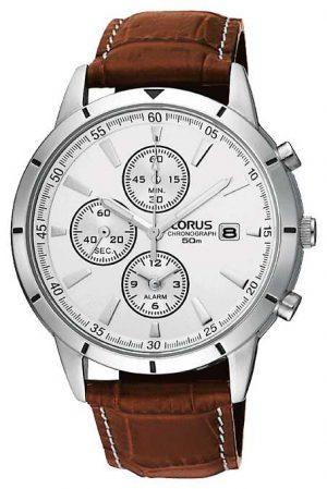 Lorus Mens Chronograph Alarm Strap Watch RF325BX9