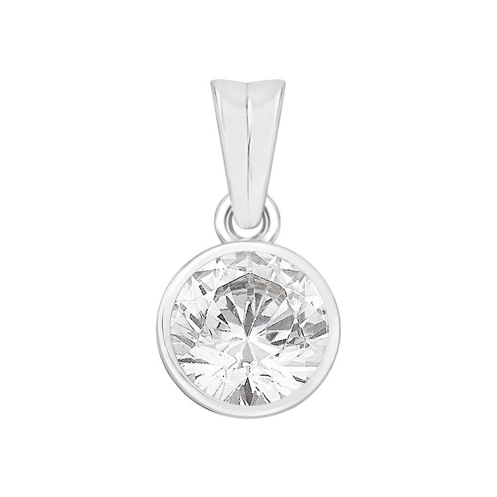 Perfection Crystals Single Stone Rubover Set Pendant (0.75ct) P4553-SK