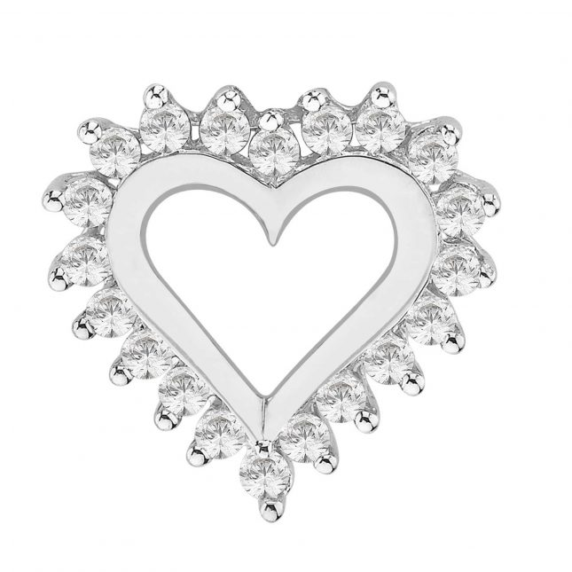 Perfection Crystals Heart Pendant with Surrounded Stones (0.50ct) P3023-SK